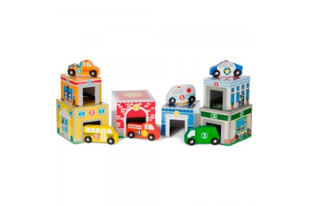 Melissa & Doug Nesting & Sorting Toys - Buildings & Vehicles Free Shipping