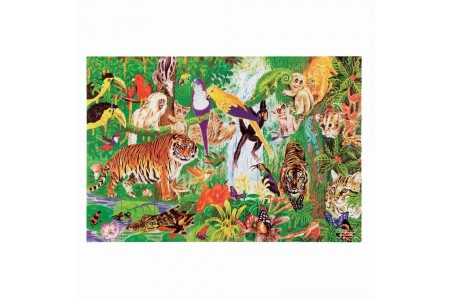 Melissa And Doug Rainforest Floor Puzzle 48pc Free Shipping