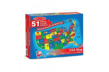 Melissa And Doug Usa Map Floor Puzzle 51pc Free Shipping