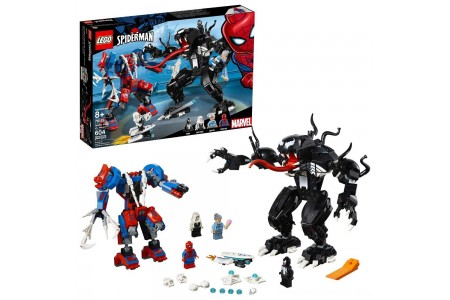 Black Friday 2020 Sale LEGO Marvel Spider Mech Vs. Venom Ghost Spider Superhero Playset with Web Shooter 76115 Free Shipping