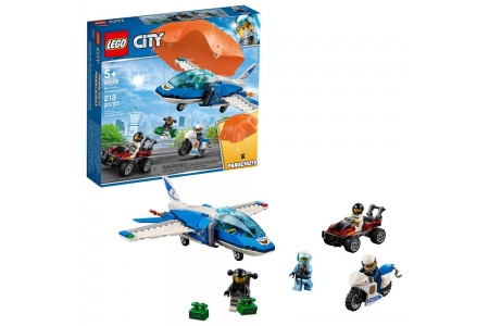 LEGO City Sky Police Parachute Arrest 60208 Free Shipping