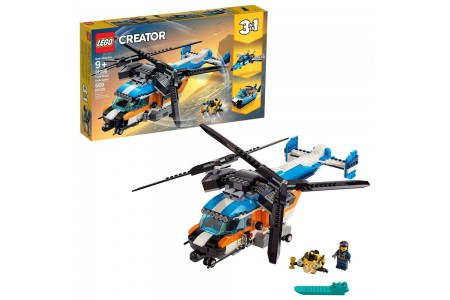 Black Friday 2020 Sale LEGO Creator Twin-Rotor Helicopter 31096 Toy Helicopter Building Set with Submarine 569pc Free Shipping