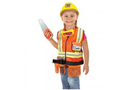 Black Friday 2020 Sale Melissa & Doug Construction Worker Role Play Costume Dress-Up Set (6pc), Adult Unisex, Size: Large, Gold/Orange/Yellow Free Shipping