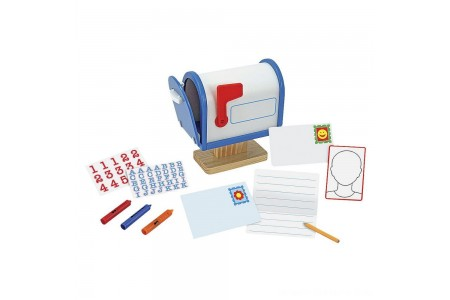 Black Friday 2020 Sale Melissa & Doug My Own Wooden Mailbox Activity Set and Educational Toy Free Shipping
