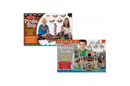 Black Friday 2020 Sale Melissa And Doug Pirate Ship And Medieval Castle 3D Puzzle 200pc Free Shipping