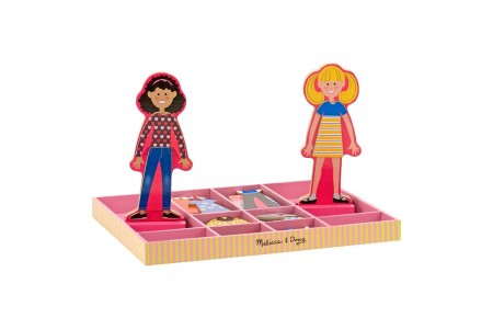 Melissa & Doug Abby and Emma Deluxe Magnetic Wooden Dress-Up Dolls Play Set (55+pc) Free Shipping