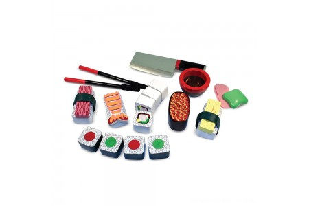 Melissa & Doug Sushi Slicing Wooden Play Food Set Free Shipping