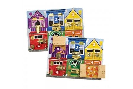 Melissa & Doug Latches Wooden Activity Board Free Shipping