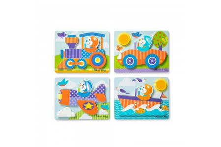 Melissa & Doug First Play 6pc Jigsaw Puzzle Set Vehicles Free Shipping