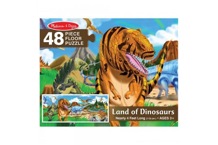 Melissa And Doug Land Of Dinosaurs Floor Puzzle 48pc Free Shipping