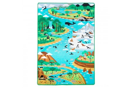 "Melissa & Doug Jumbo Habitats Activity Rug, 58 x 79"" Free Shipping"