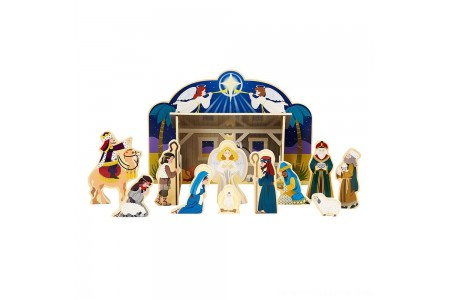 Black Friday 2020 Sale Melissa & Doug Classic Wooden Christmas Nativity Set With 4-Piece Stable and 11 Wooden Figures Free Shipping