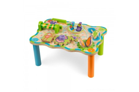 Melissa & Doug First Play Childrens Jungle Wooden Activity Table for Toddlers Free Shipping
