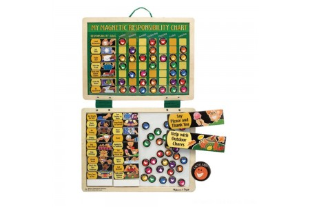 Melissa & Doug Deluxe Wooden Magnetic Responsibility Chart With 90 Magnets Free Shipping
