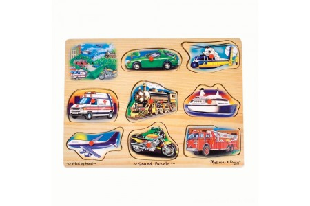 Black Friday 2020 Sale Melissa And Doug Vehicle Puzzle Wooden Peg Sound Puzzle 8pc Free Shipping