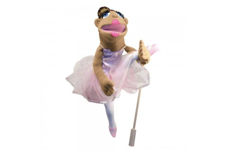 Black Friday 2020 Sale Melissa & Doug Ballerina Puppet - Full-Body With Detachable Wooden Rod for Animated Gestures Free Shipping