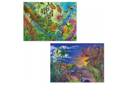 Melissa And Doug Bugs And Dinosaurs Puzzles 120pc Free Shipping