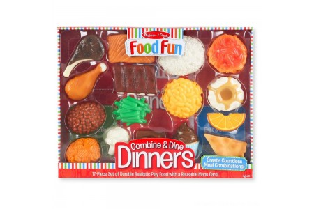 Melissa & Doug Food Fun Combine & Dine Dinners - Red Free Shipping