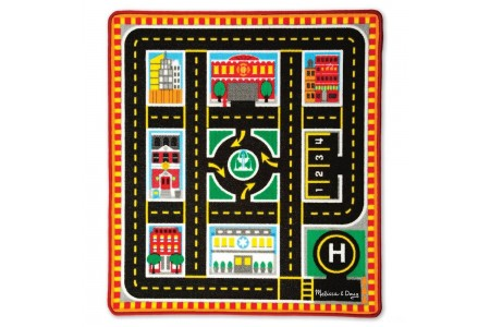 Black Friday 2020 Sale Melissa & Doug Round The City Rescue Rug With 4 Wooden Vehicles (39 x 36 inches) Free Shipping