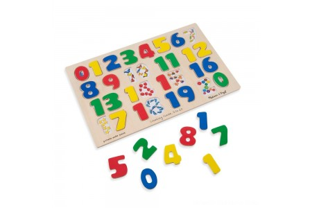 Melissa & Doug Numbers 0-20 Wooden Puzzle (21pc) 32pc Free Shipping