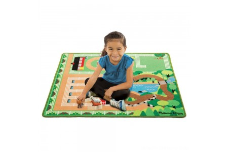 Black Friday 2020 Sale Melissa & Doug Round the Ranch Horse Activity Rug (39 x 36 inches) With 4 Play Horses and Folding Fence Free Shipping