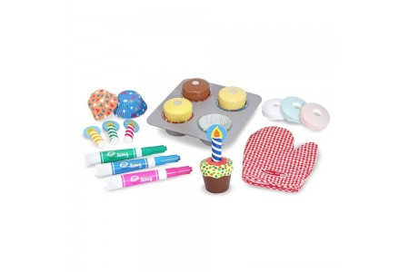 Melissa & Doug Bake and Decorate Wooden Cupcake Play Food Set Free Shipping