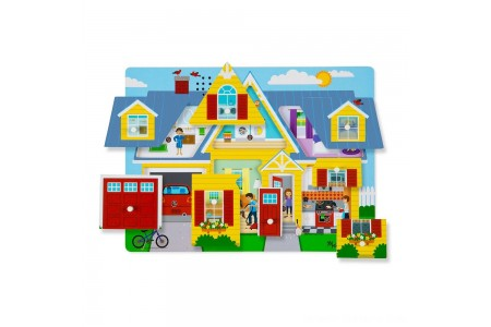 Melissa & Doug Around the House Sound Puzzle Set - 8pc Free Shipping