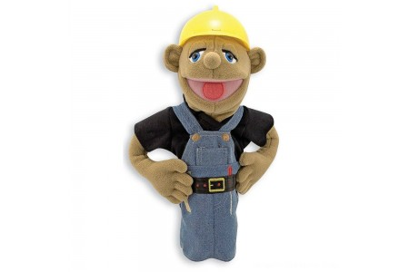 Melissa & Doug Construction Worker Puppet With Detachable Wooden Rod for Animated Gestures Free Shipping