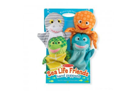 Melissa & Doug Sea Life Friends Hand Puppets Free Shipping