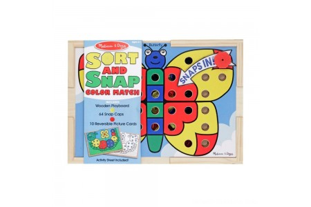 Melissa & Doug Sort and Snap Color Match - Sorting and Patterns Educational Toy Free Shipping