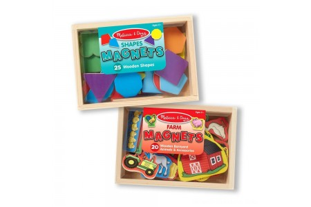 Black Friday 2020 Sale Melissa & Doug Wooden Magnets Set - Shapes and Farm (45pc) Free Shipping