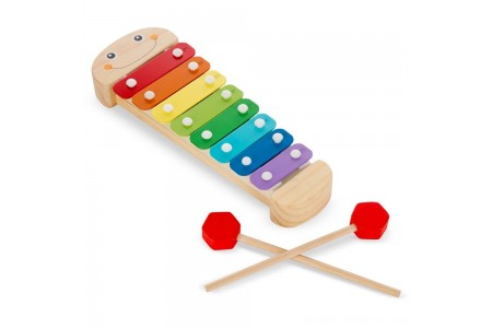 Melissa & Doug Caterpillar Xylophone Musical Toy With Wooden Mallets Free Shipping
