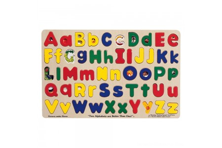 Melissa & Doug Upper & Lower Case Alphabet Letters Wooden Puzzle (52pc) Free Shipping