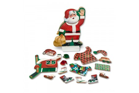Black Friday 2020 Sale Melissa & Doug Santa Wooden Dress-Up Doll and Stand With Magnetic Accessories (22pc) Free Shipping