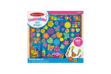 Melissa & Doug Bead Bouquet Deluxe Wooden Bead Set With 220+ Beads for Jewelry-Making Free Shipping