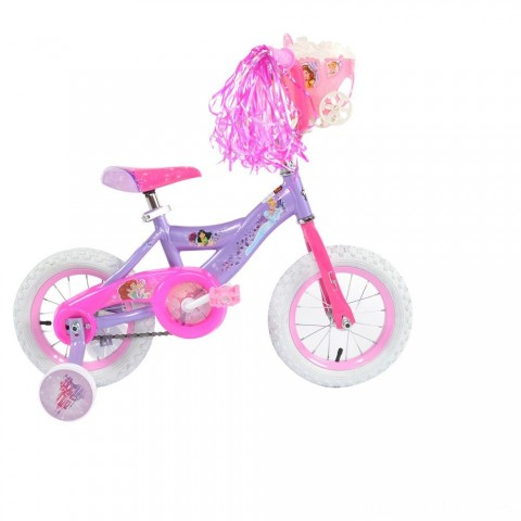 "Huffy Disney Princess Cruiser Bike 12"" - Purple, Girl's Free Shipping"