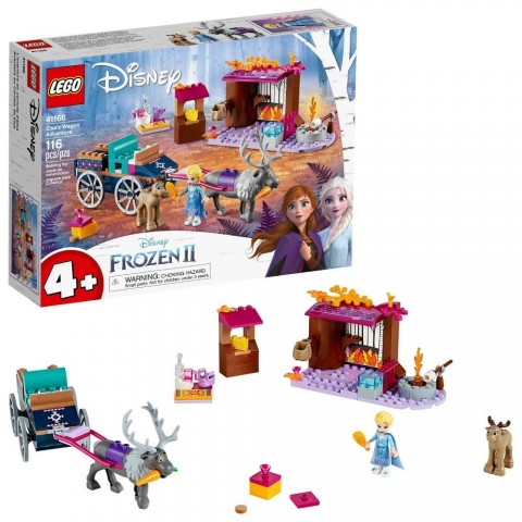 LEGO Disney Frozen II Elsa's Wagon Carriage Adventure Building Kit and Elsa Doll 41166 Free Shipping