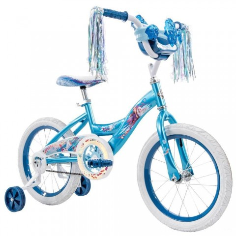 "Huffy Disney Frozen 2 16"" Bike - Blue, Girl's Free Shipping"