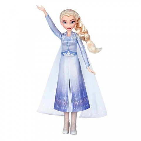 Disney Frozen 2 Singing Elsa Fashion Doll with Music - Blue Free Shipping