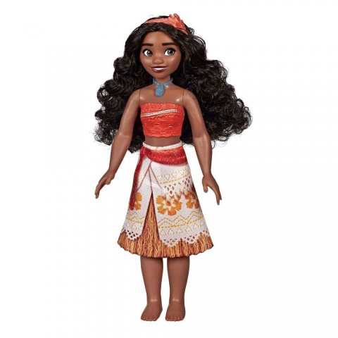 Disney Princess Royal Moana Shimmer Doll Free Shipping