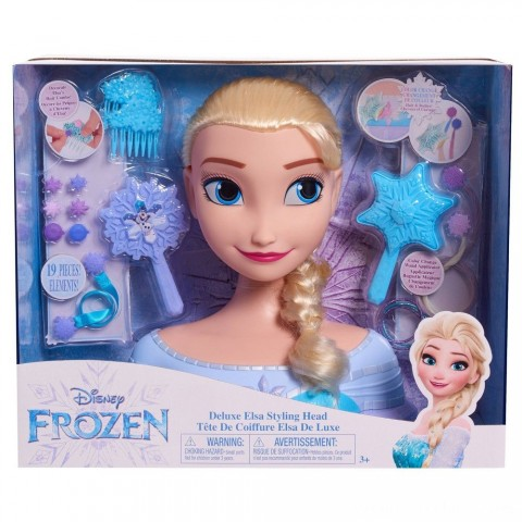 Disney Princess Elsa Deluxe Styling Head Free Shipping