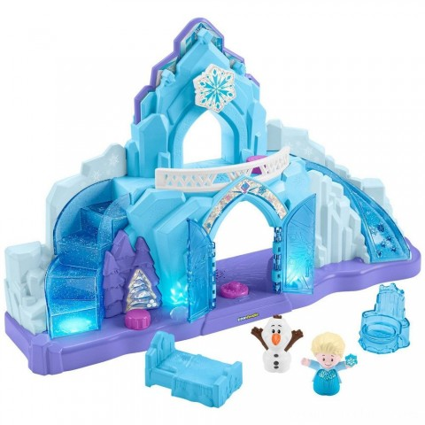 Fisher-Price Little People Disney Frozen Elsa's Ice Palace Free Shipping