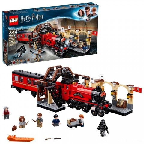 LEGO Harry Potter Hogwarts Express Train Set with Harry Potter Minifigures and Toy Bridge 75955 Free Shipping