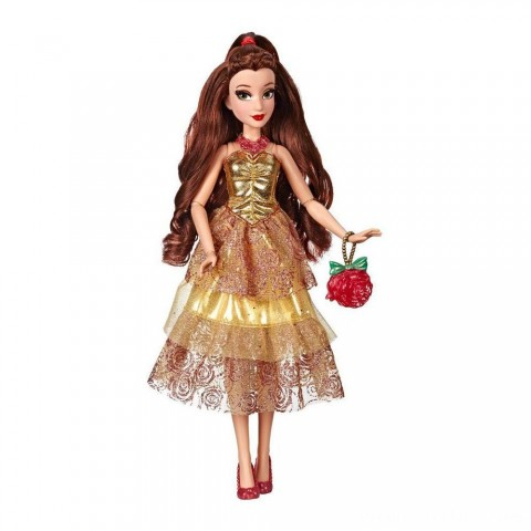 Disney Princess Style Series - Belle Doll in Contemporary Style with Purse & Shoes Free Shipping