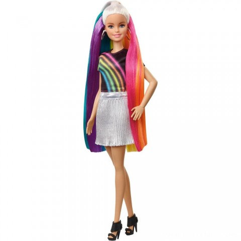 Barbie Rainbow Sparkle Hair Barbie Doll Free Shipping