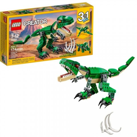 Black Friday 2020 Sale LEGO Creator Mighty Dinosaurs 31058 Build It Yourself Dinosaur Set, Pterodactyl, Triceratops, T Rex Toy Free Shipping