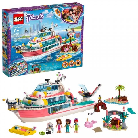 Black Friday 2020 Sale LEGO Friends Rescue Mission Boat 41381 Building Kit Sea Creatures for Creative Play 908pc Free Shipping