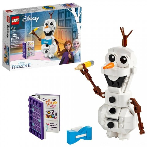 Black Friday 2020 Sale LEGO Disney Frozen 2 Olaf 41169 Olaf Snowman Toy Figure Building Kit 122pc Free Shipping