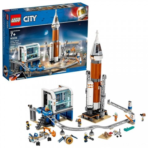 LEGO City Space Deep Space Rocket and Launch Control 60228 Model Rocket Building Kit with Minifigures Free Shipping