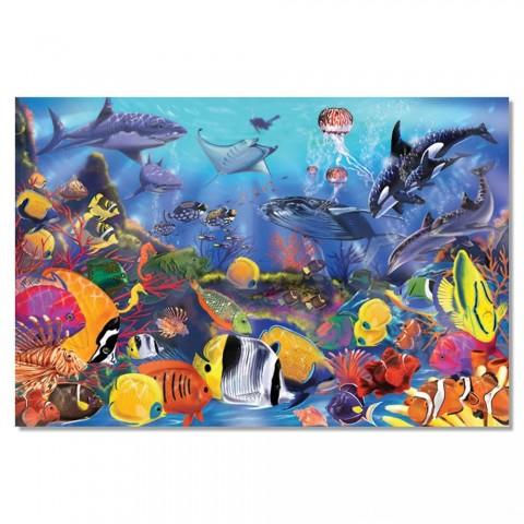 Melissa And Doug Underwater Ocean Floor Puzzle 48pc Free Shipping